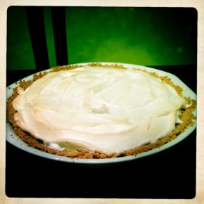 Margarita Pie (no 'h' means it's not pizza)